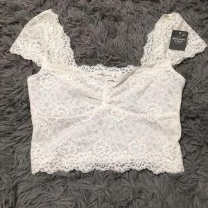 NEW Abercrombie & Fitch Lace Crop Top